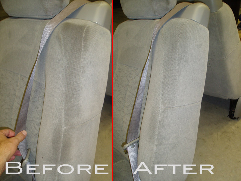 Car Upholstery Before And After How To Remove Oil Stains